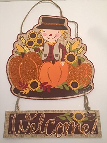 Fall Scarecrow Pumpkin Sunflower Welcome (Sexy Sunflower Scarecrow Costumes)