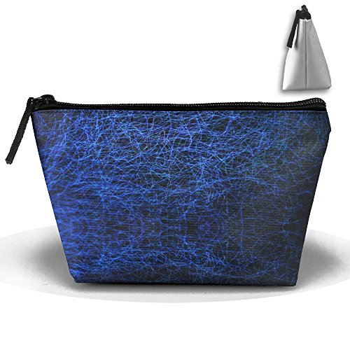 Blue Light Travel&home Portable Trapezoidal Make-up Receive Bag Hand Cosmetic Bag