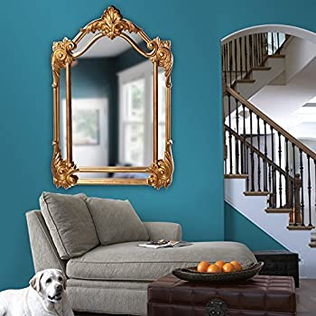 Howard Elliott 56004 Cortland Rectangular Mirror, 32 x 47-Inch, Antique Gold Leaf