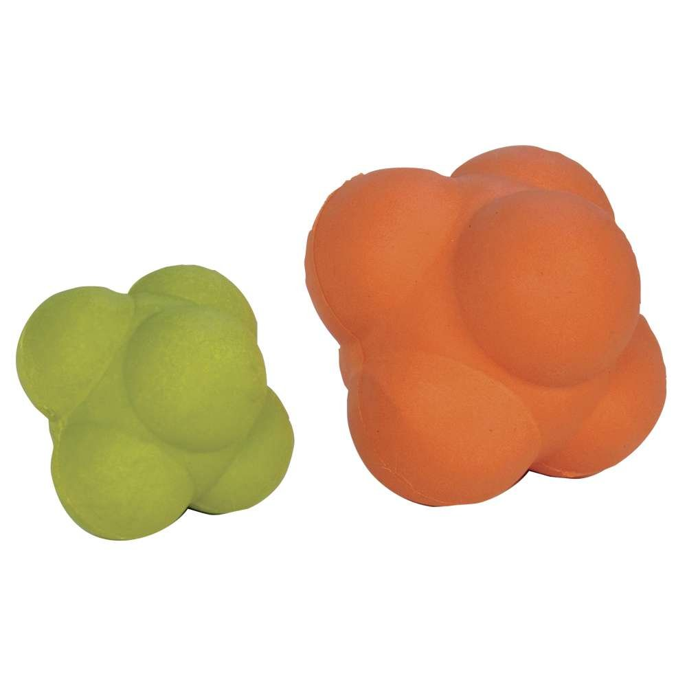 Power Systems Irregular Shape, Rubber Reflex Ball for Improving Reaction Time and Hand-Eye Coordination, Jumbo: 4 Inch, Orange (30560)