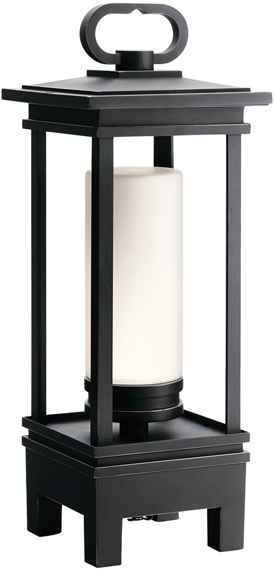 Kichler 49473RZLED South Hope Portable LED Lantern with Built-in Bluetooth Speaker, 1-Light, Rubbed Bronze