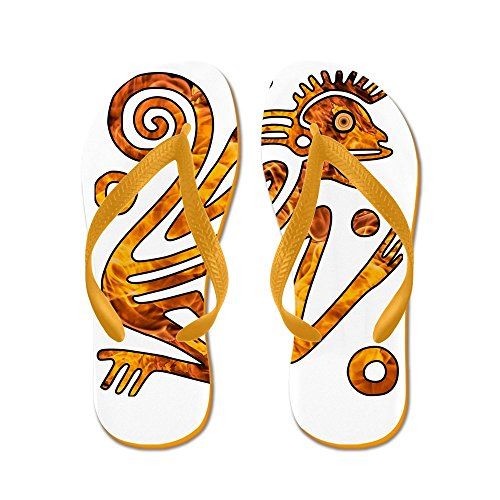 Truly Teague Mens Chinese New Year Aztec Style Fire Monkey 2016 Rubber Flip Flops Sandals Orange 3mC1rj8l5