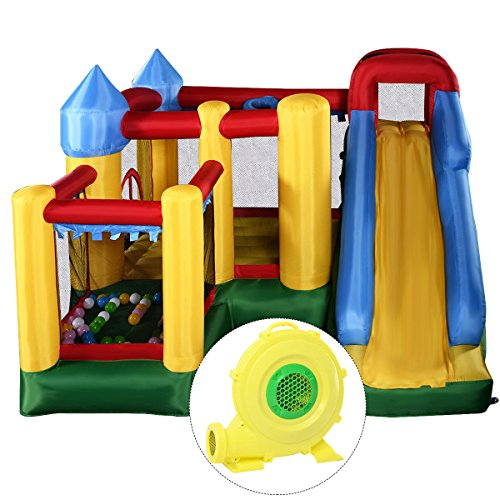- Giantex Mighty Inflatable Bounce House Castle Jumper Moonwalk Bouncer w/ 680W Blower