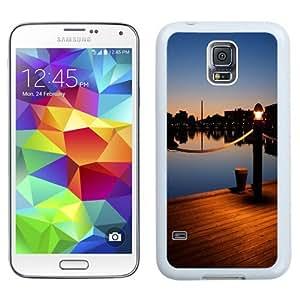 Fashionable Custom Designed Samsung Galaxy S5 I9600 G900a G900v G900p G900t G900w Phone Case With Wooden Pier Dusk Light_White Phone Case