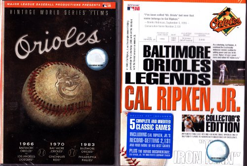Baltimore Orioles Vintage World Series Films , and Baltimore Orioles Legends Cal Ripken Jr Collectors Edition : 7 DVD Set ()
