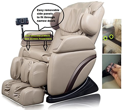 3dcebc4f2 Amazon.com  ideal massage Full Featured Shiatsu Chair with Built in Heat  Zero Gravity Positioning Deep Tissue Massage - Black  Beauty