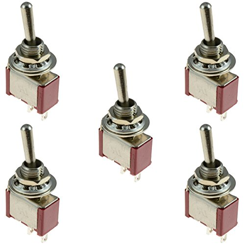 5 X On Off Mini Small Toggle Switch Miniature Spst Buy