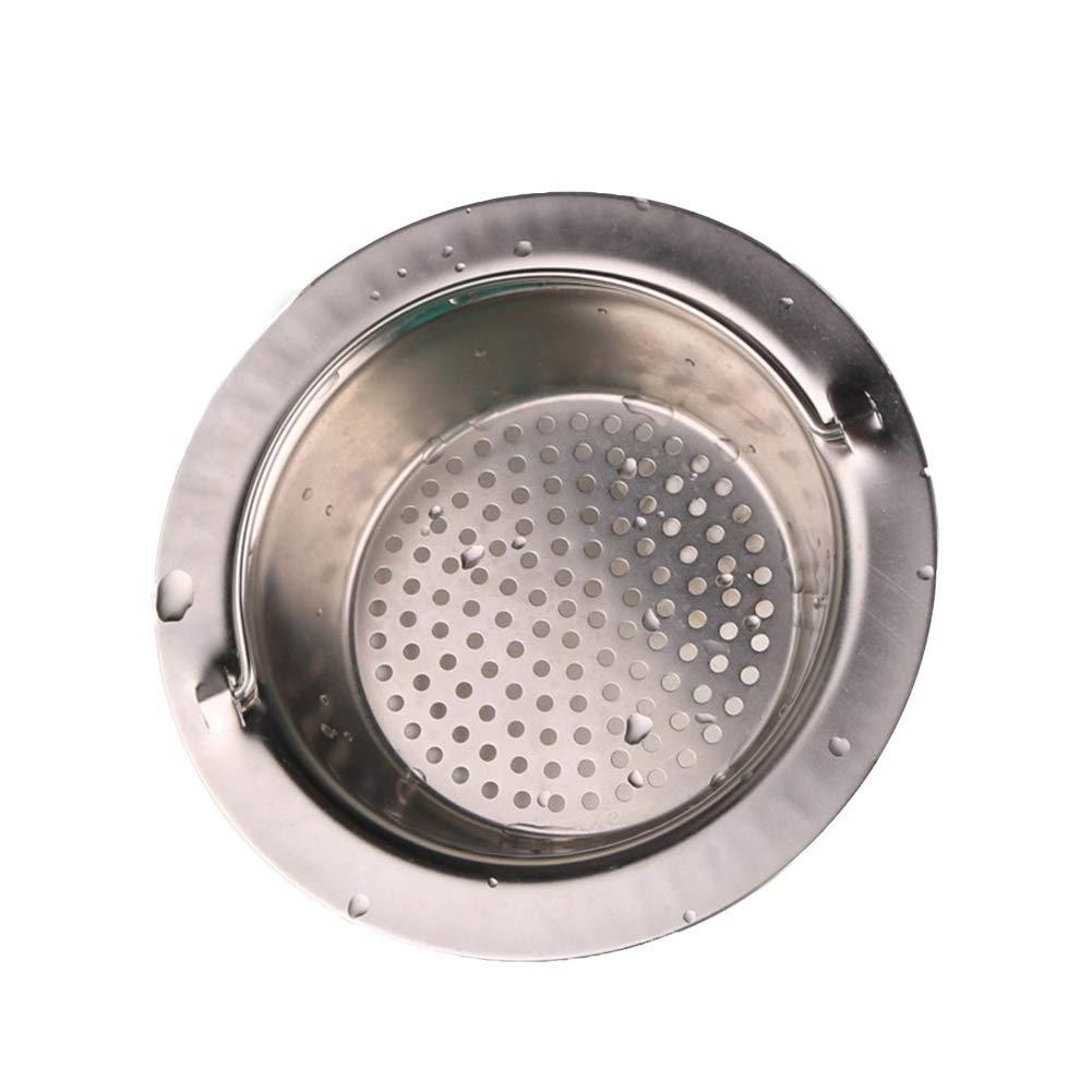 ypypiaol Cocina Acero Inoxidable Alcantarillado Fregadero Colador Desag/üe Residuos Filtro Anti-obstrucci/ón Manejado Esencial Borde redondo 11.5cm #