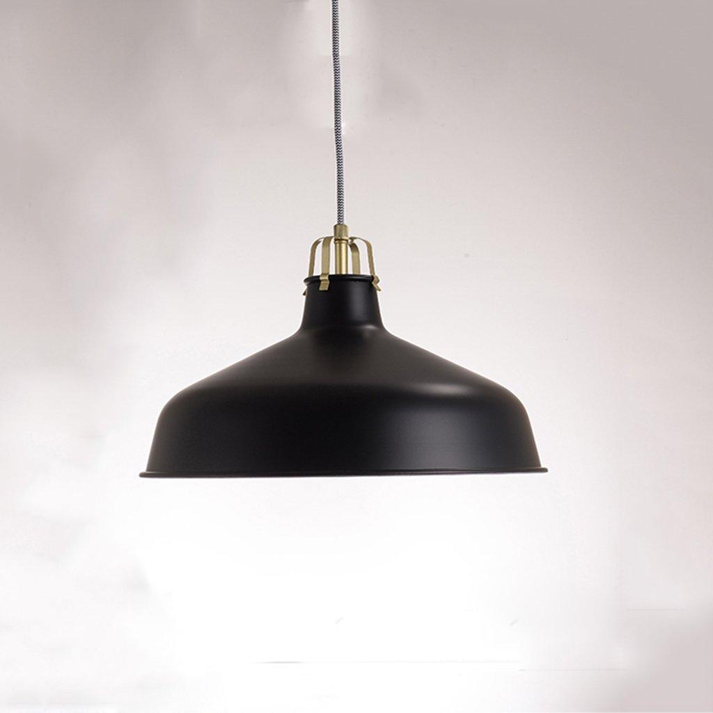 Modern Deckenlampe Moderner minimalistischer industrieller Leuchter-einzelner Hauptschmiedeeisen-Restaurant-Küchen-Stab-Café-Bekleidungsgeschäft-Leuchter Balkon Schlafzimmer (Farbe   schwarz)