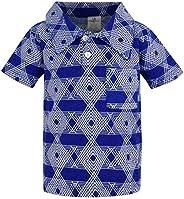 Unique Baby Boys Star of David Hanukkah Button Up Collared Shirt