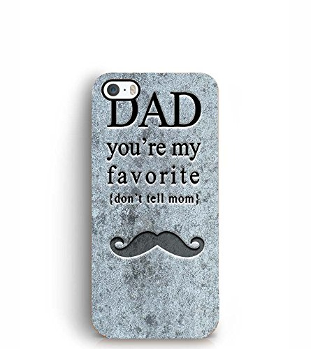 release date e9c11 bab74 YuBingo Apple iPhone 5S Designer Phone Back Case Cover (Dad You're My  Favorite)