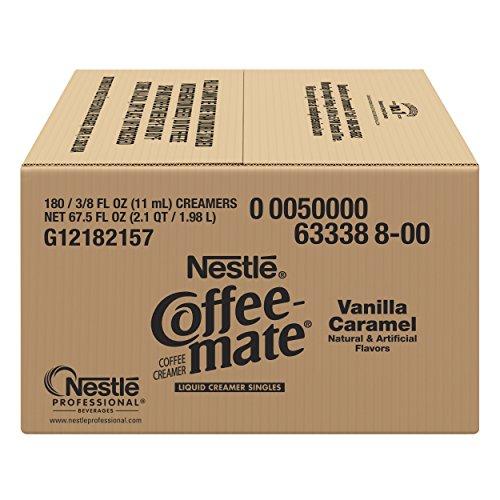NESTLE COFFEE-MATE Coffee Creamer, Vanilla Caramel, liquid creamer singles, Pack of 180 by Nestle Coffee Mate (Image #3)