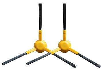 2 cepillos laterales - Apto para Ecovacs Deebot Slim y Marvel de Hannets: Amazon.es: Electrónica