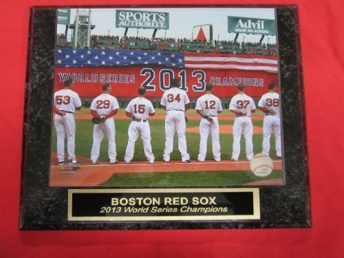 Red Sox 2013 World Series Champions Collector Plaque w/8x10 Banner Photo