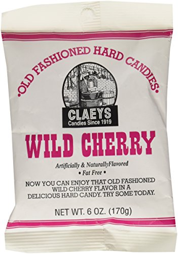 Cherry Hard Candy - Claey's Wild Cherry Drops - 6 oz pack