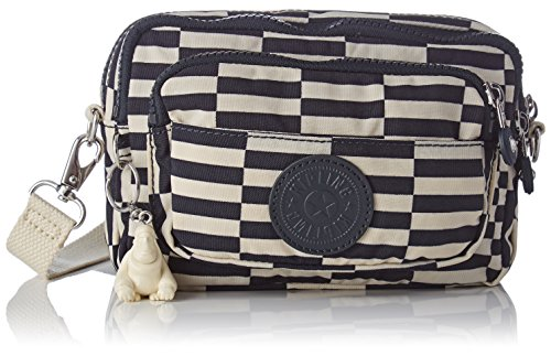 25 White Blanc cm Multicolore Print Striped Multiple banane Tile Sac Kipling sport IqnZpUw8