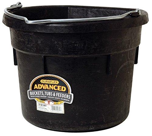 LITTLE GIANT MILLER CO Flat Back Bucket, 18 quart, Black