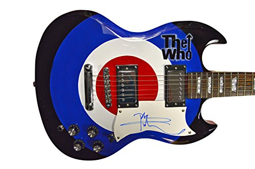 The Who Pete Townshend Autographed Bullseye Logo Airbrushed Guitar Aft