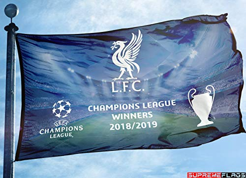 Liverpool Flag Banner 3x5 ft FC Football Champions League Winners - Liverpool Flag
