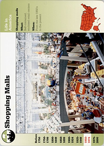 1994-01 Story of America Collectible Card #60-11 Shopping Malls - - Shops Mall America Of