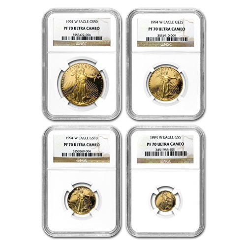 1994 W 4-Coin Proof Gold American Eagle Set PF-70 NGC PF70