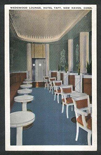 Wedgwood Lounge Hotel Taft New Haven CT postcard 1920s