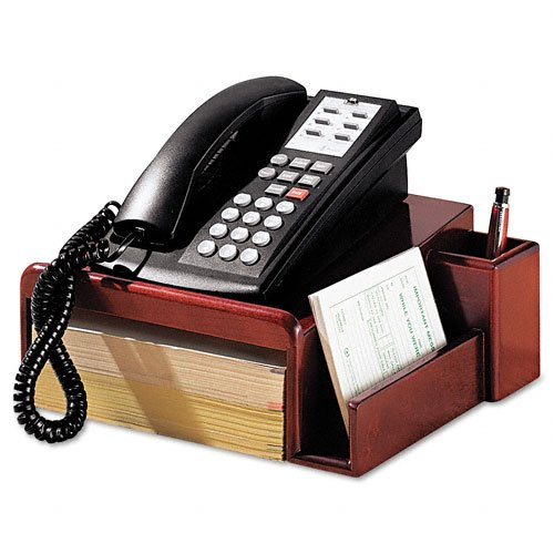 Rolodex : Wood Tones Phone Center Desk Stand, 12 1/8w x 10d, Mahogany -:- Sold as 2 Packs of - 1 - / - Total of 2 Each by Rolodex