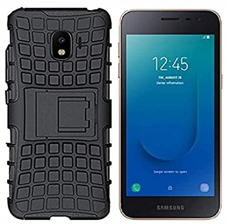 more photos eaec7 1b3a9 Colorcase Defeder Hybrid with Kick Stand Back Cover Case for Samsung Galaxy  J2 Core {2018} - {Black}