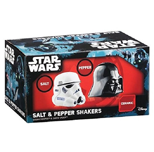 Star Wars Stormtrooper & Darth Vader Ceramic Salt & Pepper Shakers
