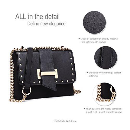 Black Bag New Shoulder Small Beige Handbag 1767 2018 1767 Pu Womens Miss Messenger Lulu Leather Fashion Bag Bag 87Ex0Hawnq