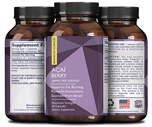Acai Berry Concentrate (Pure Acai Berry Concentrate Capsules – Acai Berry Cleanse Weight Loss + Antioxidant Support + Energy + Immune System Booster - Health and Wellness Dietary Supplement For Women & Men)
