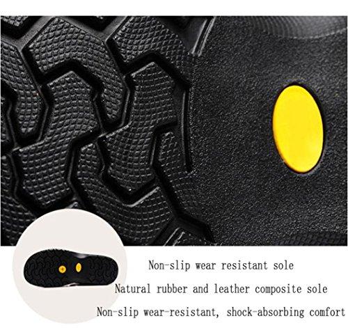 Grandi Sandali Sandali Black Casual in Traspirante da Dimensioni Uomo Baotou Sandali Pelle da di Estate Trekking da Spiaggia ZCqFrZ