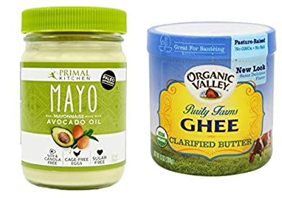 Primal Kitchen Avocado Oil Mayo 12oz & Purity Farms Ghee Organic Clarified Butter 13 oz