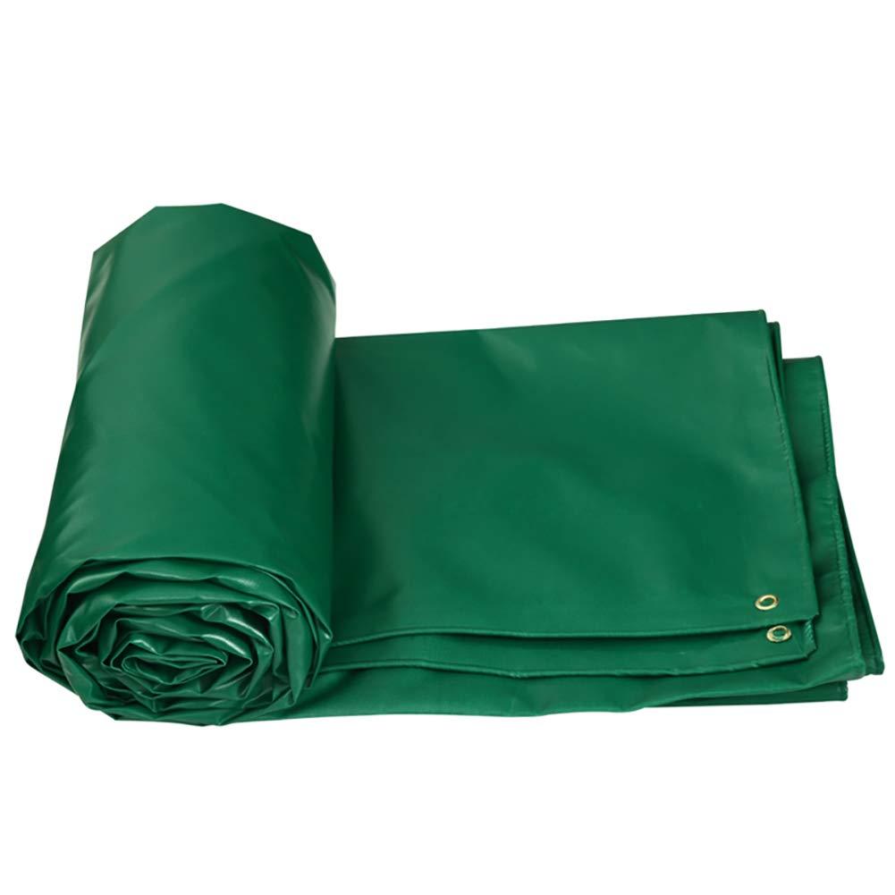L-BHQF La bÂche Verte Forte de bÂche imperméable de Toile de Fond de Pare-Soleil d'auvent imperméable Couvre Le Tissu antipluie (Taille   7x5M)  7x5M