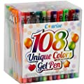 Courise - 108 Unique Colors Gel Pen Set by Courise