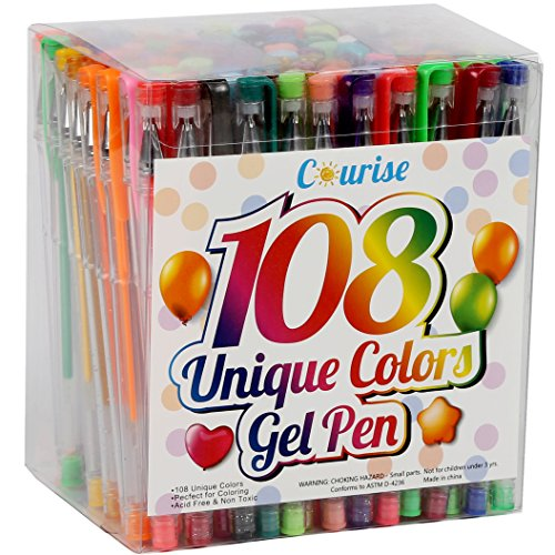 courise-108-unique-colors-gel-pens-gel-pen-set-for-adult-coloring-books-drawing-painting-doodling