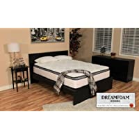 DreamFoam Bedding Ultimate Dreams Pocketed Coil Ultra Plush Pillow Top Mattress, Short Queen