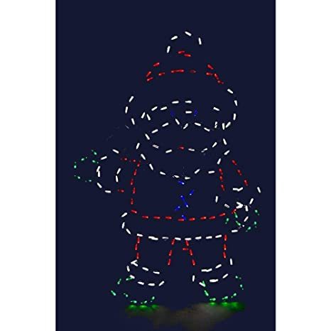 32 waving santa animotion led christmas wire decor outdoor christmas decor - Outdoor Christmas Decorations Wire