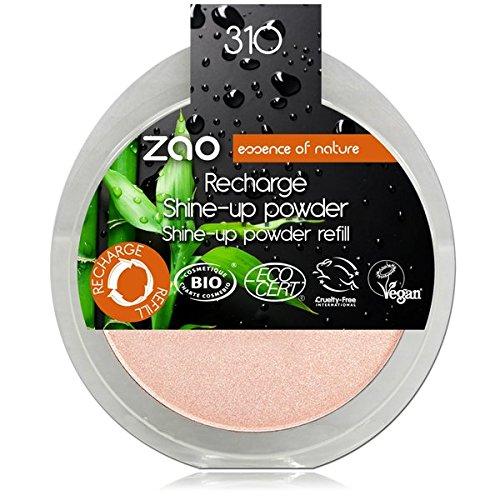 Zao Refill Shine Up Powder Bio 310Pink Champagne Lustre Powder Refill Beige Pink (Vegan) Highlighter 111310 Cosm' etika France