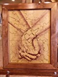 Wedding Guest Book Alternative Wood Puzzle ''Together Forever Tree Hand In Hand'' 14x17 Small 50 Piece