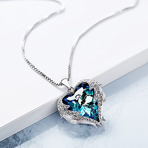 NEHZUS Heart of the Ocean Love Heart Pendant Necklace for Girlfriend Love Wife,Crystal from Swarovski by NEHZUS (Image #2)