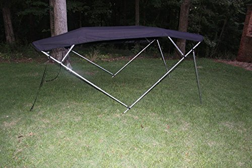 """BLACK VORTEX BRAND 4 BOW BIMINI TOP 10' LONG, 91-96"""" WIDE, 54"""" HIGH, COMPLETE KIT (FAST SHIPPING - 1 TO 4 BUSINESS DAY DELIVERY)"""