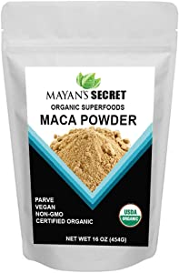 Maca Powder Organic - Premium Grade Superfood (Raw) USDA Certified Vegan Superfoods for Breakfast, Smoothies, Baking & Ice Cream 1 Pound