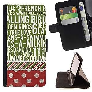 Momo Phone Case / Flip Funda de Cuero Case Cover - Dot texto modelo rojo del verde del vintage - Samsung Galaxy A5 ( A5000 ) 2014 Version