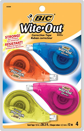 BIC Wite Out Correct Correction 4 Count