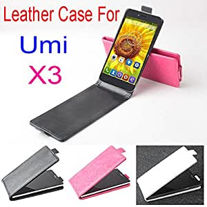 Umi X3 Case, New High Quality Genuine Filp Leather Cover Case For Umi X 3 case Free Shipping --- Color:Rose