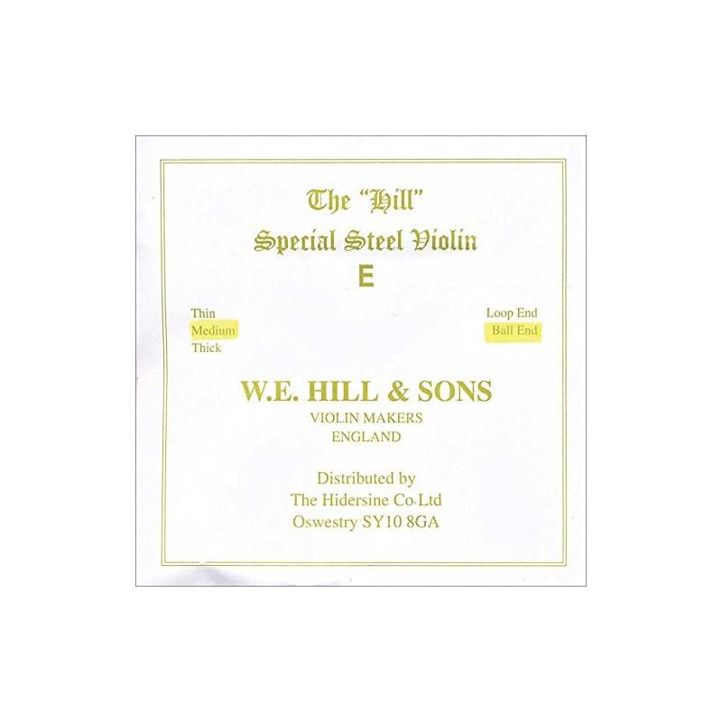 Hill 4/4 Violin E String - Medium Gauge