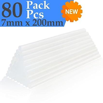 PACK UNIVERSAL 80 barras de silicona (7mm x 20cm). COMPATIBLE con primeras marcas.