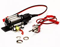 Integy RC Hobby C24659BLACK Billet Machined Realistic Power Winch for Scale Rock Crawler 1/10 Size