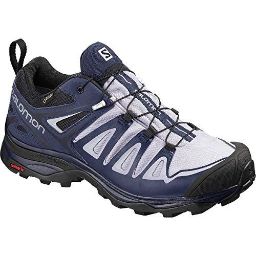 Salomon X Ultra 3 GTX Hiking Boots - Womens, Languid Lavender/Crown Blue/Navy Blazer, L40676100-8